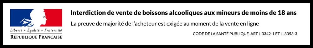 Bandeau vente alcool